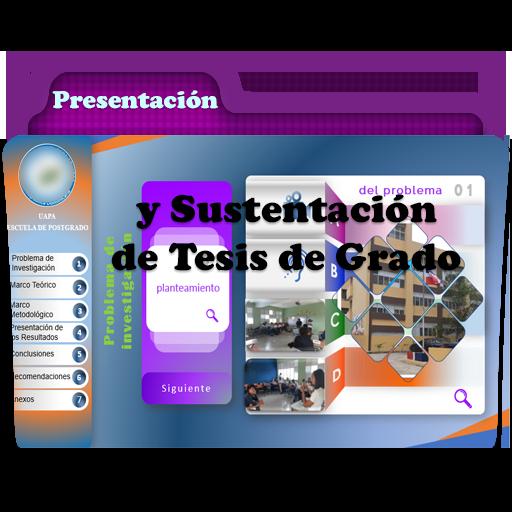 Presentación y Sustentación de Tesis de Grado